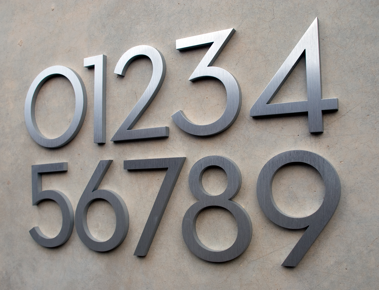 Modern dwell house numbers for Contemporary house numbers and letters