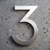 modern house numbers 3