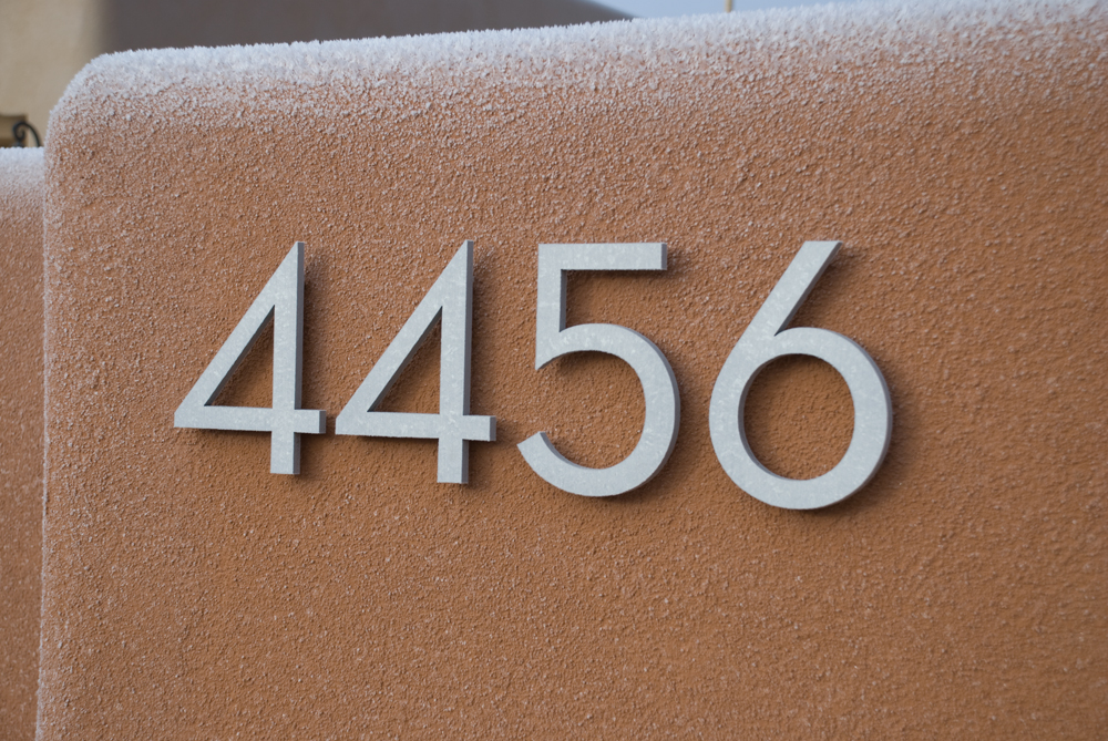 Modern dwell house numbers for House numbers