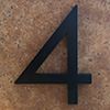 modern house numbers 4 in black