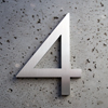 modern house numbers 4