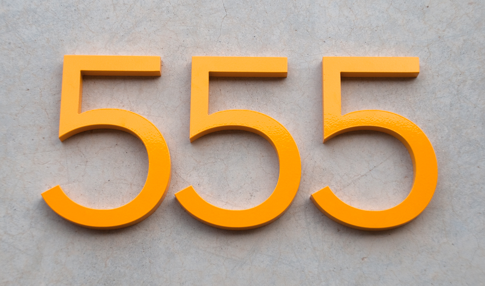 Bright house numbers always yellow pinterest for Bright houses number