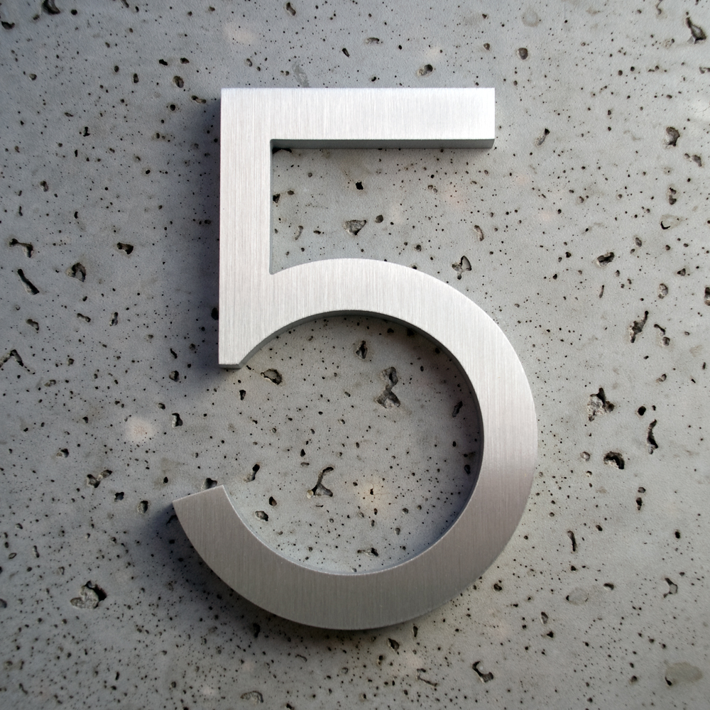 Modern 8 House Numbers