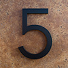 modern house numbers 5 in black