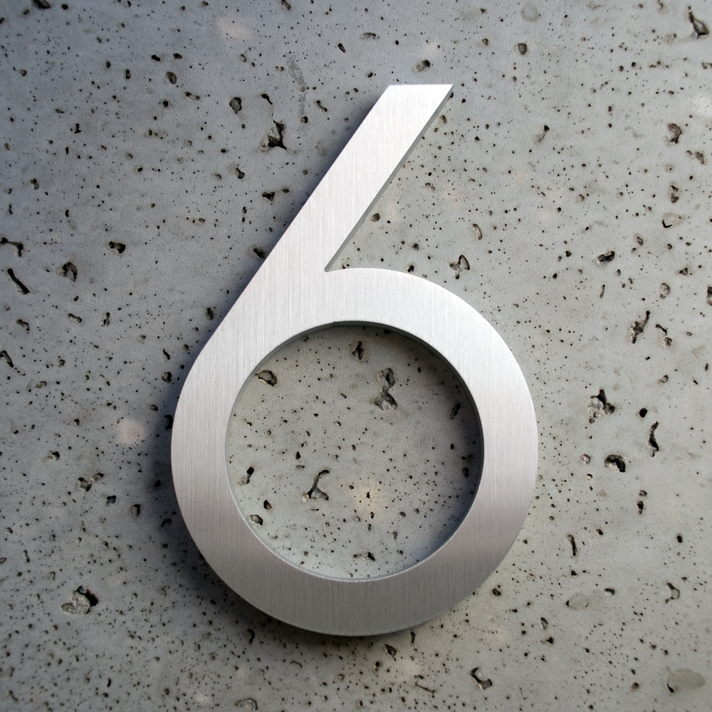 Modern house numbers 6