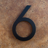 modern house numbers 6 in black