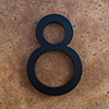 modern house numbers 8 in black
