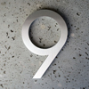 modern house numbers 9