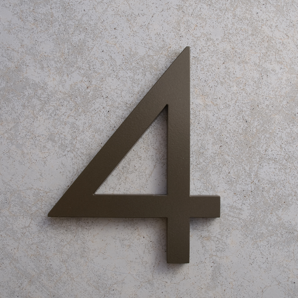 Modern 4 House Numbers
