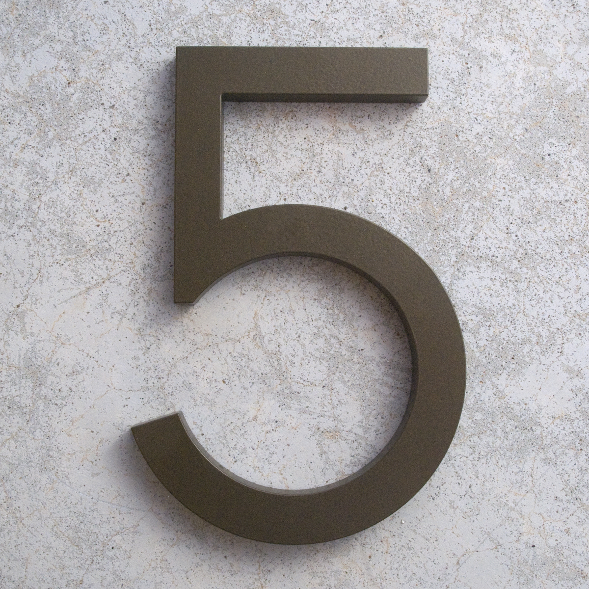 Modern House Numbers And Letters - Modern house 5