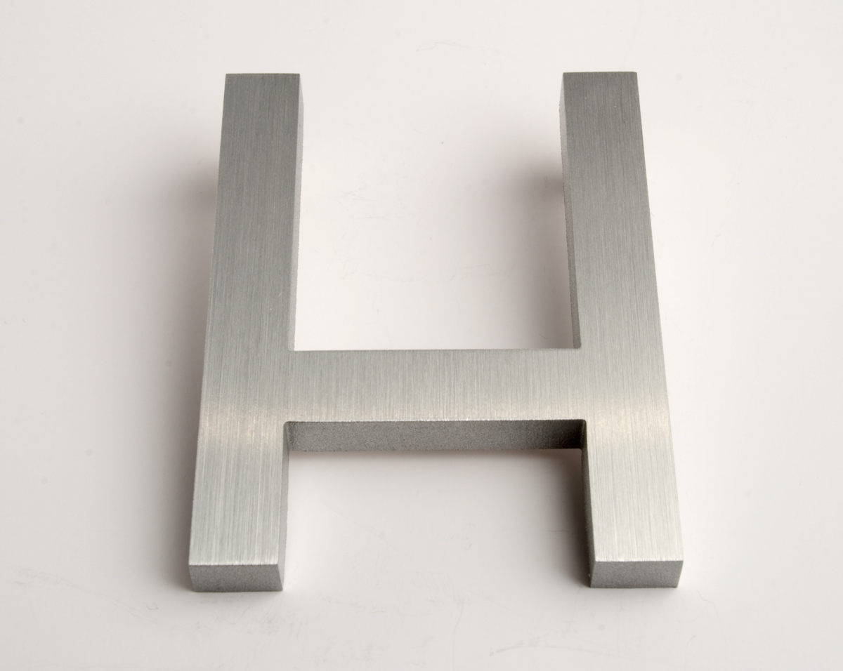 modern house numbers letter h