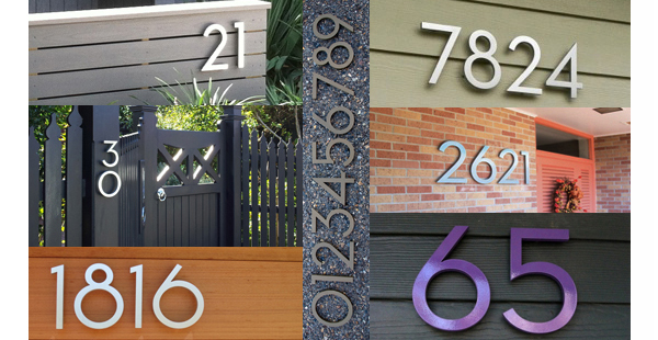Modern Dwell House Numbers
