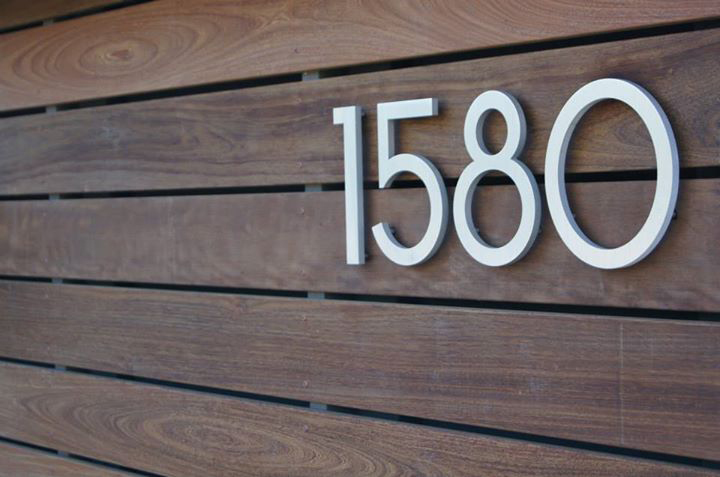 Modern dwell house numbers for Modern house numbers